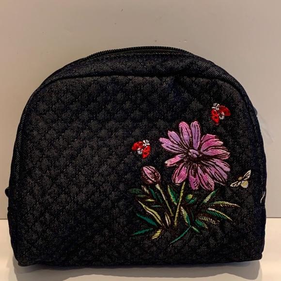 Vera Bradley Medium Cosmetic Bag in Denim Navy